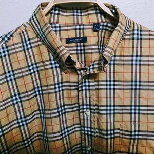 Burberry Check Poplin button down shirt